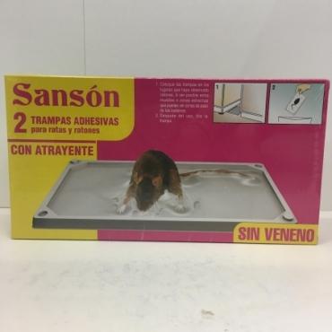 Raticida SANSON 2 Trampas Adhesivas