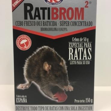Raticida RATIBROM 2 Cebo fresco 150 gr.