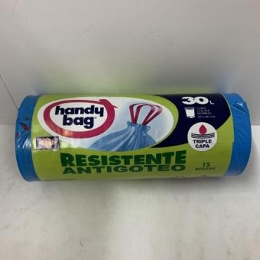 Bolsa basura HANDY BAG 30 L. 15 und.