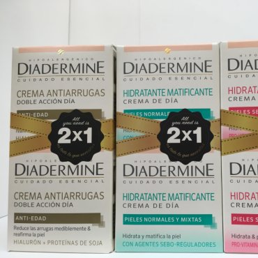Facial cream DIADERMINE 2x1 moisturizing and anti-wrinkle