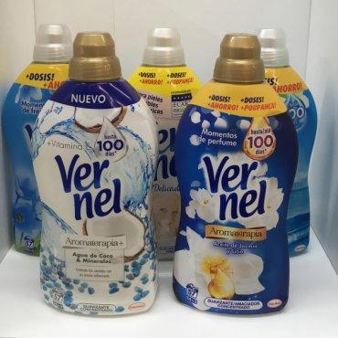 Softener VERNEL 1300ml 54+3dose. The whole range.