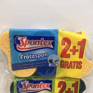 Estropajo SPONTEX Frotaspon 3x2 und. Normal y no  ...